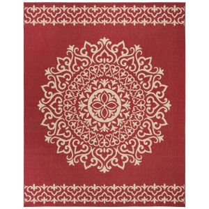 Contemporary Area Rug, BHS183Q, 120 X 180 cm in Red / Creme