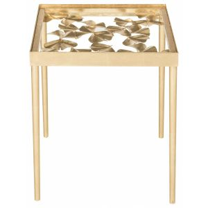 Iron Leaf Side Table,  EAF2595