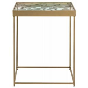 Iron Leaf Side Table,  EAF3218