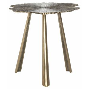 Modern Glam Leaf Side Table,  EAF3247