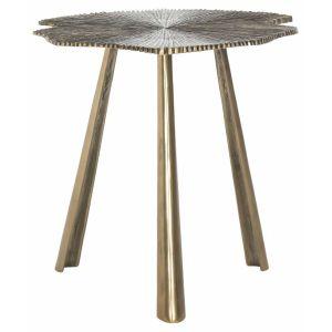 Modern Glam Leaf Side Table,  EAF3247
