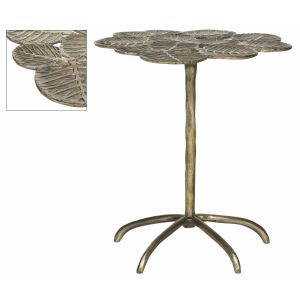 Modern Glam Leaf Side Table,  EAF3249