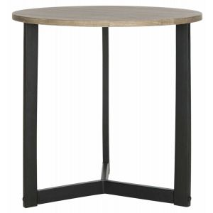 Round Lacquer End Table,  EAF4213