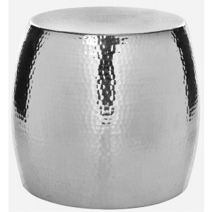 Polished Round Hammered Stool,  EAF5504