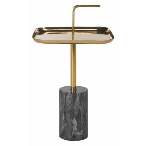 Marble Brass Top Side Table,  EAF5525
