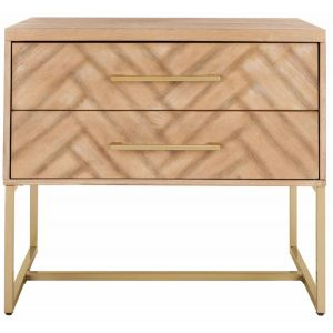 Contemporary 2-Drawer Nightstand,  EAF6262