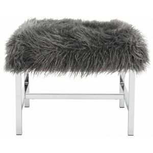 Glam Faux Lamb Square Bench,  EAF6266