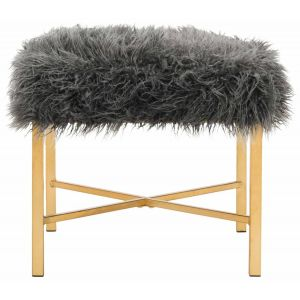 Glam Faux Lamb X Bench,  EAF6267