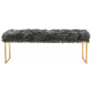Glam Faux Lamb Bench,  EAF6280