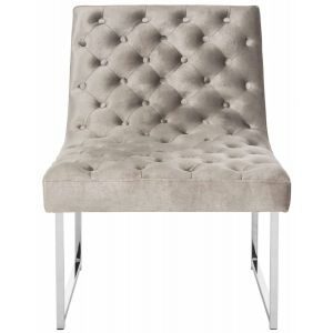 Leather Tufted Accent Chair,  EAF6283