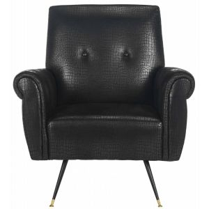 Mid-Century Faux Leather Arm Chair,  EAF6285
