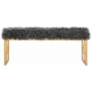 Glam Faux Lamb Bench,  EAF6291