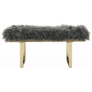 Glam Faux Lamb Bench,  EAF6292