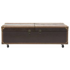 Industrial Chic Leather Storage Trunk Coffee Table,  EAF9515