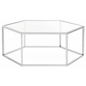 Hexagon Glass Coffee Table,  EMM6003