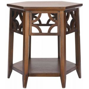 Hexagon End Table,  EUH4602