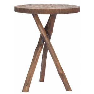 Wooden Round End Table,  EUH4608