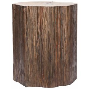 Wooden Tree Trunk Accent Table,  EUH4610