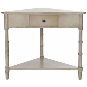 Wooden 1-Drawer Corner Table,  EUH5709