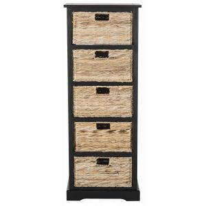 Wicker 5 Basket Storage Tower,  EUH5739