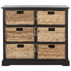 Wicker 6 Basket Storage Chest,  EUH5740