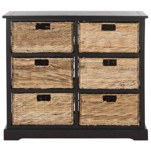 Wicker 6 Basket Storage Chest,  EUH5740