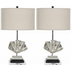 Curved Glass Table Lamp ( Set of 2 ),  EUL4052 ( EU PLUG )