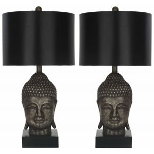 Transitional Double Gourd Glass Table Lamp ( Set of 2 ),  EUL4086 ( EU PLUG )