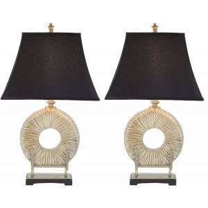 Transitional Crystal Table Lamp ( Set of 2 ),  EUL4100 ( EU PLUG )