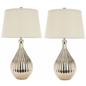 Classic Crystal Table Lamp ( Set of 2 ),  EUL4103 ( EU PLUG )