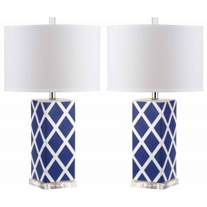 Ceramic Table Lamp ( Set of 2 ),  EUL4135 ( EU PLUG )