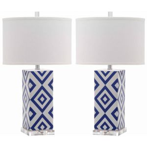 Ceramic Table Lamp ( Set of 2 ),  EUL4136 ( EU PLUG )