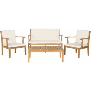 Wooden Outdoor 4-Piece Living Set,  EUP6710