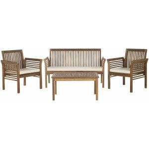 Wooden Outdoor 4-Piece Living Set,  EUP7005