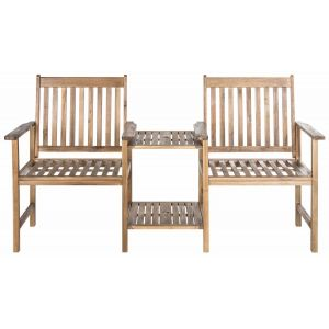 Acacia Indoor/Outdoor Twin Seat Bench,  EUP7014