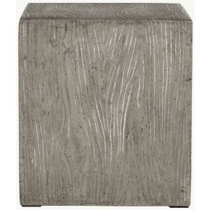 Modern Cube Indoor/Outdoor Concrete Stool,  EVN1003