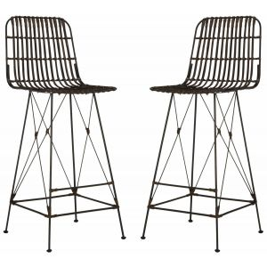 Wicker Bar Stool ( Set of 2 ),  EWK6508