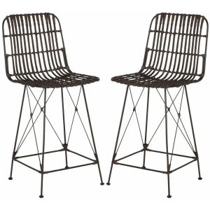 Wicker Counter Stool ( Set of 2 ),  EWK6509