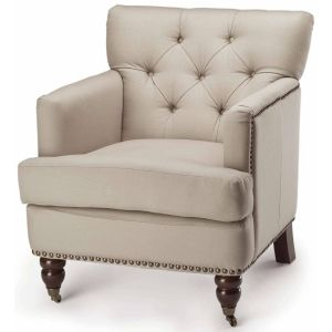 Nail Head Trim Tufted Club Chair,  SEU8212