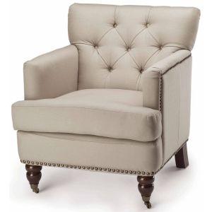 Nail Head Trim Tufted Club Chair,  SEU8212