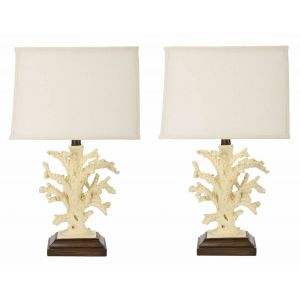 Coral Table Lamp ( Set of 2 ),  UKL4004 ( UK PLUG )