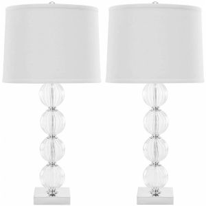Crystal Glass Table Lamp ( Set of 2 ),  UKL4006 ( UK PLUG )