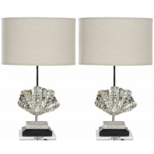Modern Shell Table Lamp ( Set of 2 ),  UKL4046 ( UK PLUG )