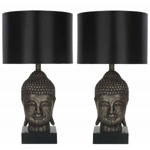Buddha Table Lamp ( Set of 2 ),  UKL4070 ( UK PLUG )