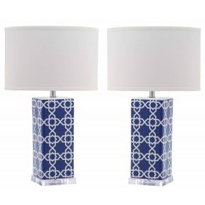 Ceramic Table Lamp ( Set of 2 ),  UKL4133 ( UK PLUG )