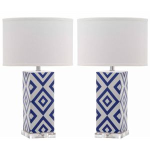 Ceramic Table Lamp ( Set of 2 ),  UKL4135 ( UK PLUG )