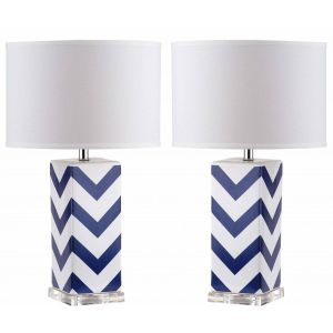 Ceramic Table Lamp ( Set of 2 ),  UKL4136 ( UK PLUG )