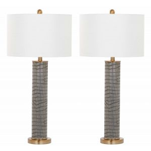 Leather Table Lamp ( Set of 2 ),  UKL4404 ( UK PLUG )