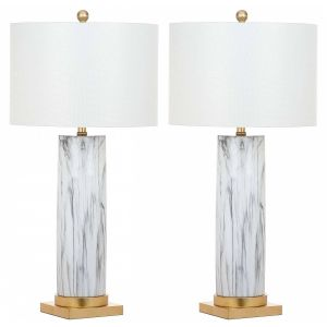Marble Table Lamp ( Set of 2 ),  UKL4522 ( UK PLUG )